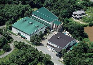 コミヤマエレクトロン本社の上空からの写真